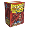 Dragon Shield Standard Card Sleeves - red
