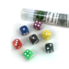 Blackfire Dice - 16mm marbled D6 in Tube (7 Dice)