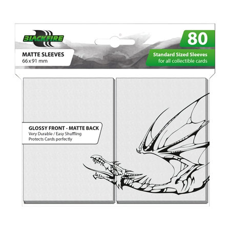 Blackfire Standard Sleeves - White (80 Sleeves)