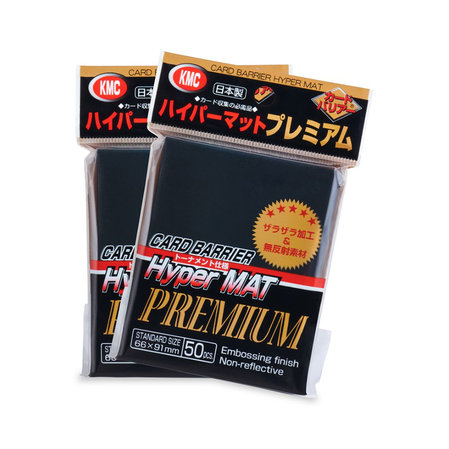 KMC Standard Sleeves - Hyper Mat Premium Black (80 Sleeves)