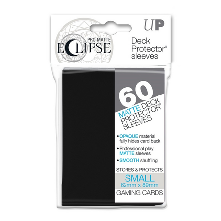 UP - Small Sleeves - PRO-Matte Eclipse - Black (60 Sleeves)