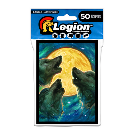 Legion - Matte Sleeves - 3 Wolves Double Matte Sleeves (50 Sleeves)