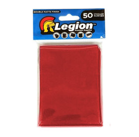 Legion - Matte Sleeves - Red Double Matte Sleeves (50 Sleeves)